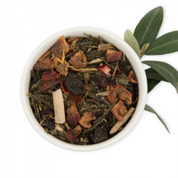 Té verde con oliva, manzana y flores - Under the olive tree