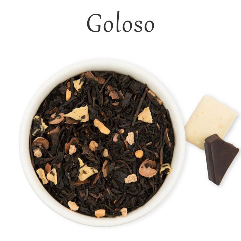 Té negro, crocante, chocolate